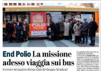 End Polio Now – La Missione adesso viaggia sui bus