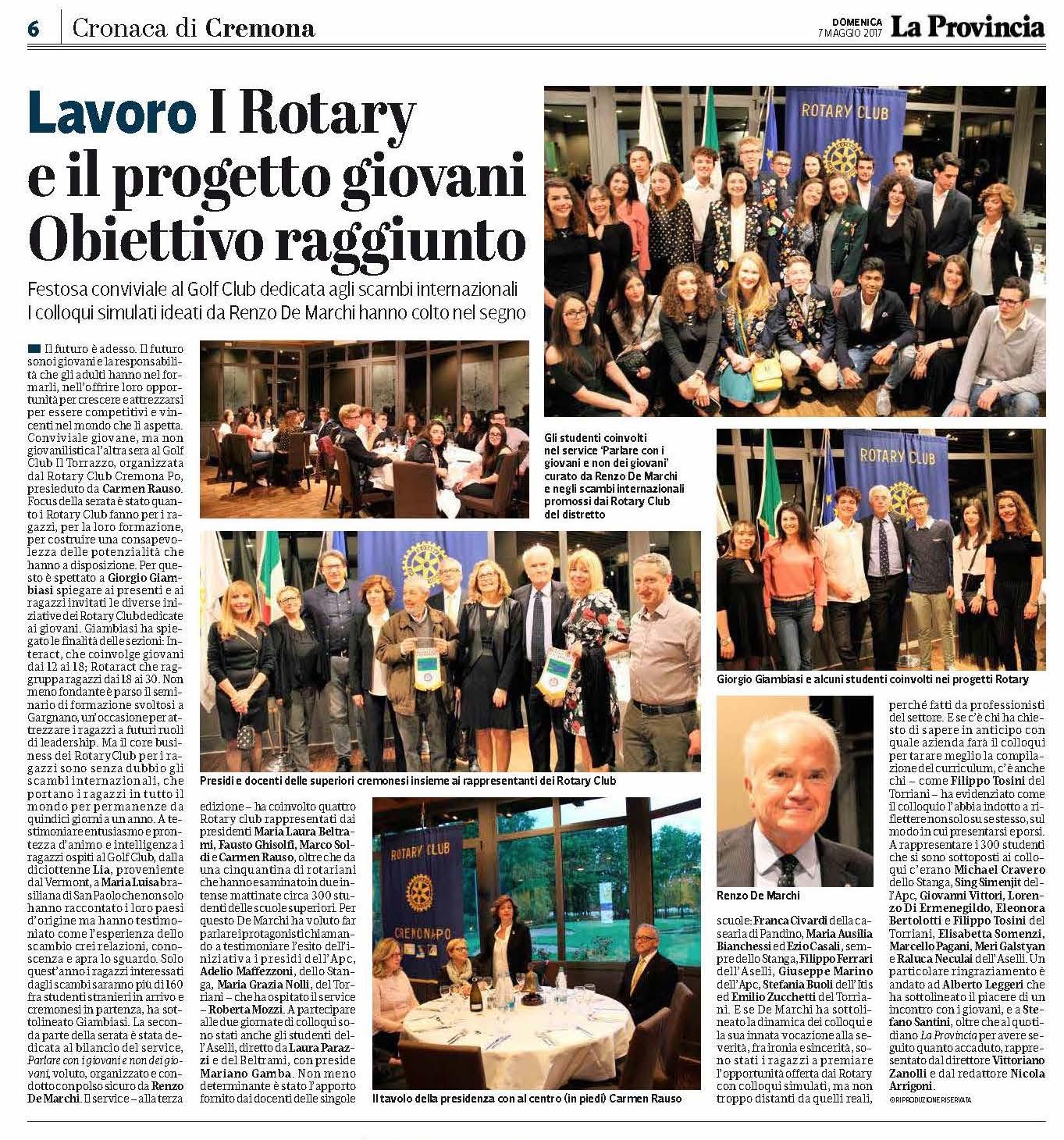 Il Rotary per i Giovani